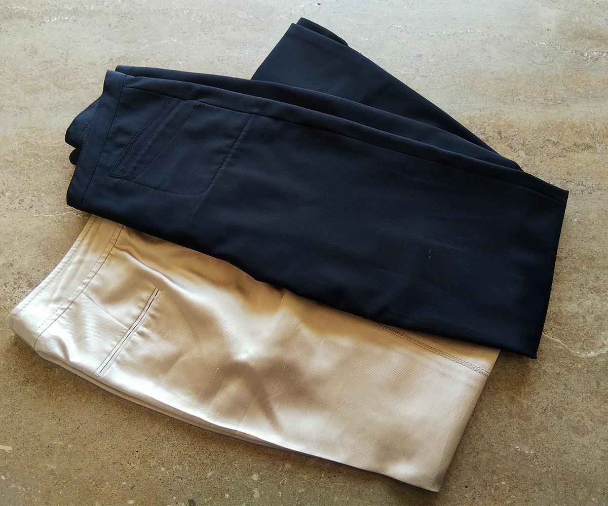 DKNYとブルマリンのパンツ