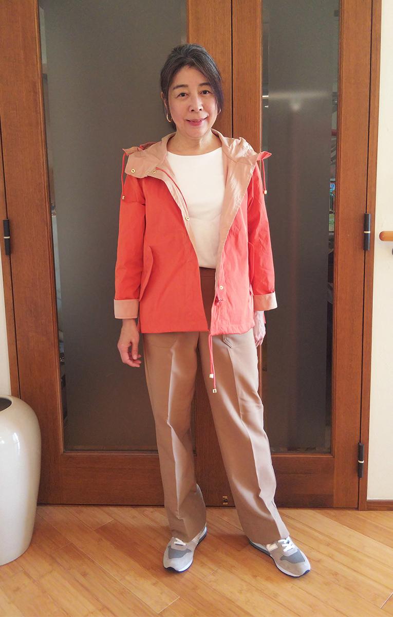 11号のオレンジを着たところ