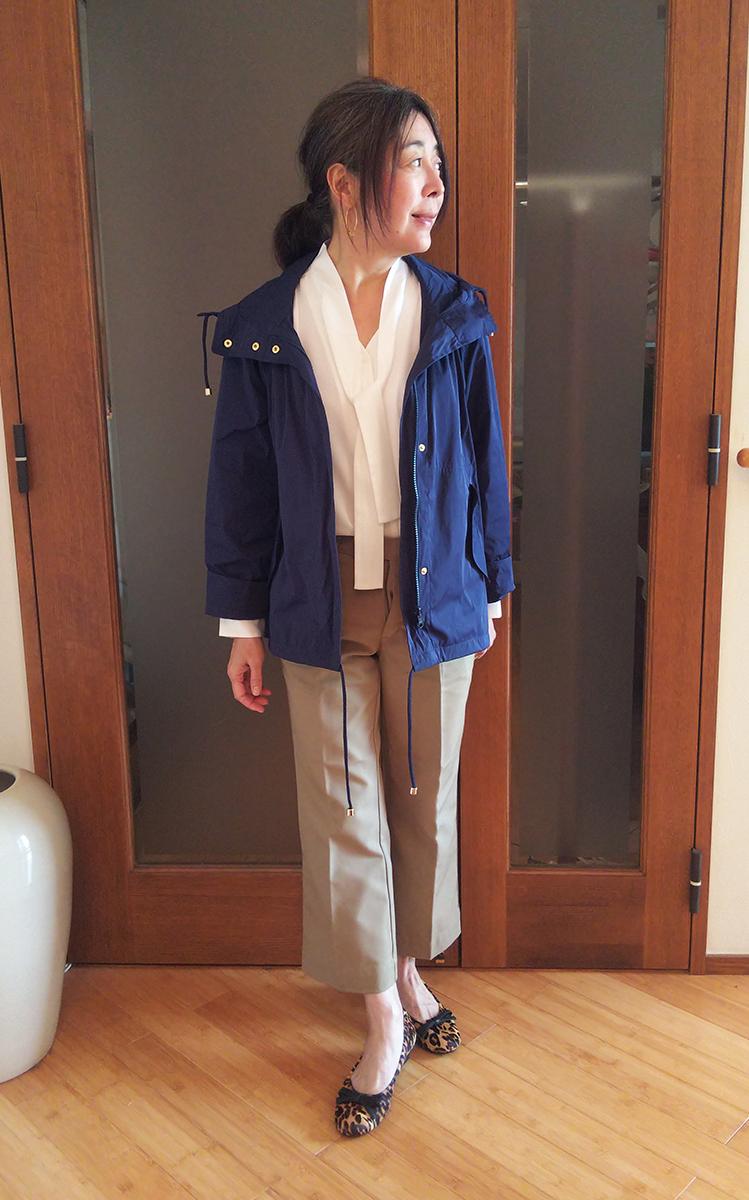 レオパード柄のシューズを履いたコーデ