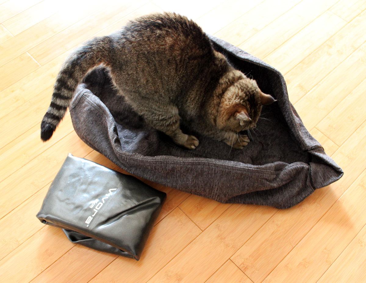 布カバーを広げたところ