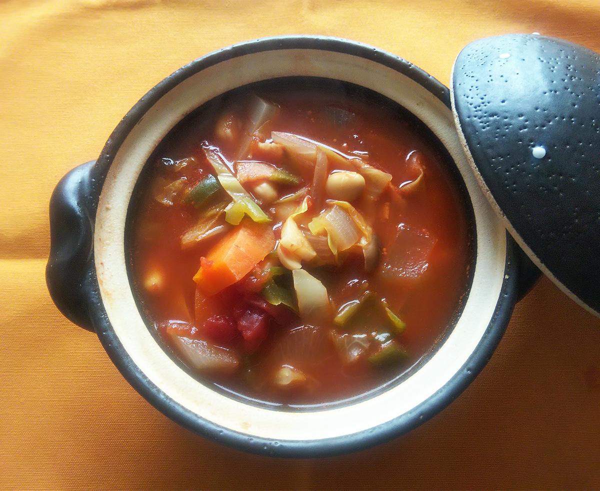大豆ミネストローネスープ