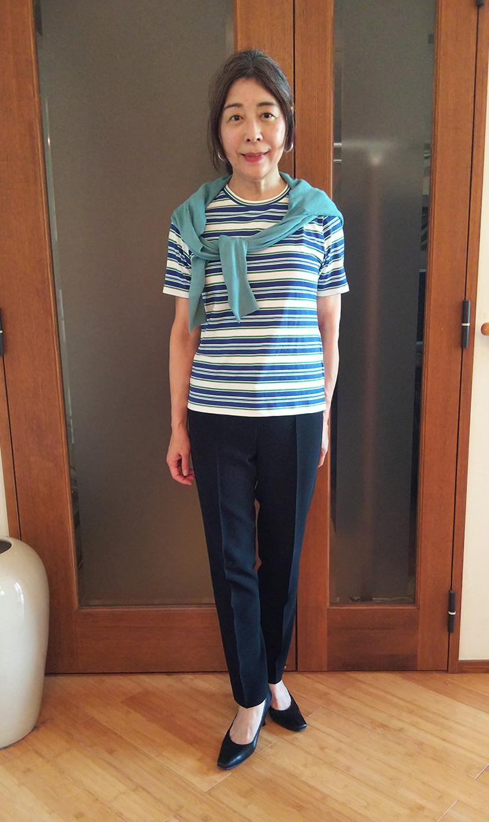スムースコットンTシャツ/クルーネック
