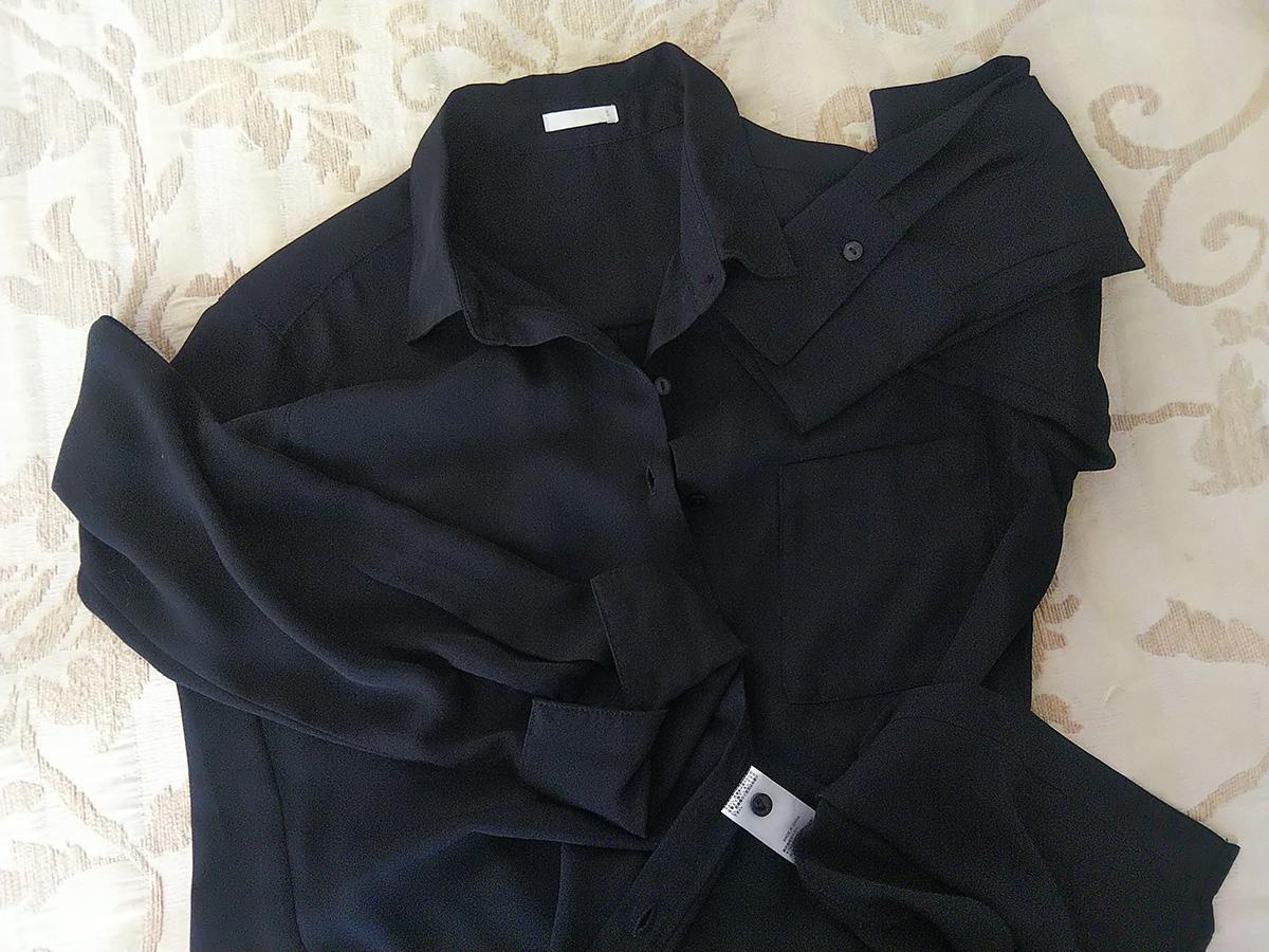 GUのとろみシャツ