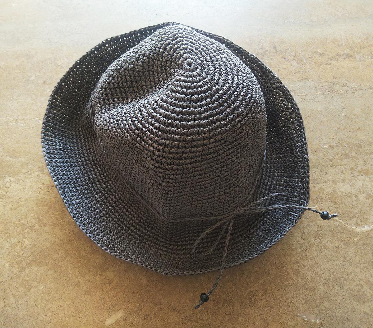 SASAWASHI/手編み帽子 ブラウン
