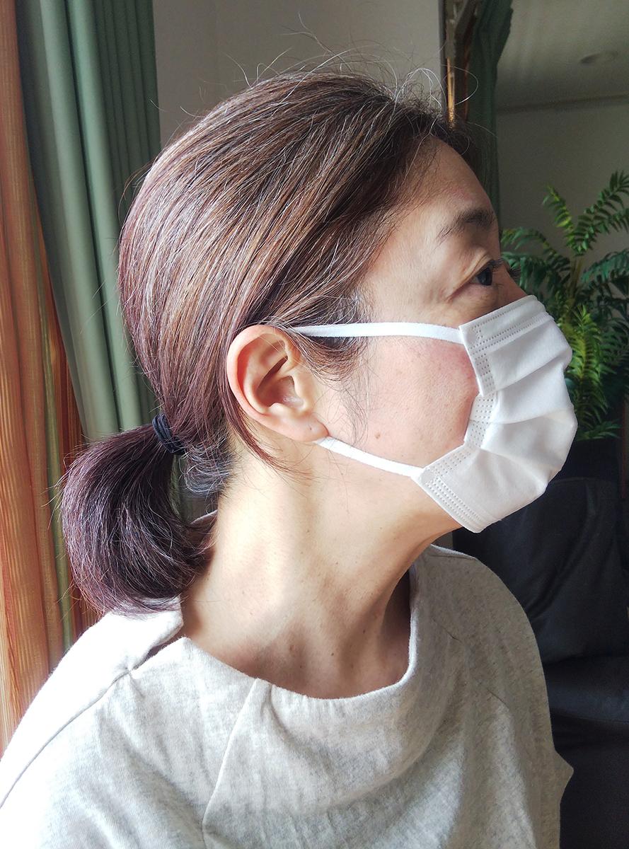 オパシー3層マスクを横から見たところ