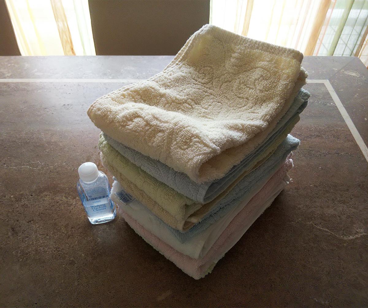 洗濯後のタオル