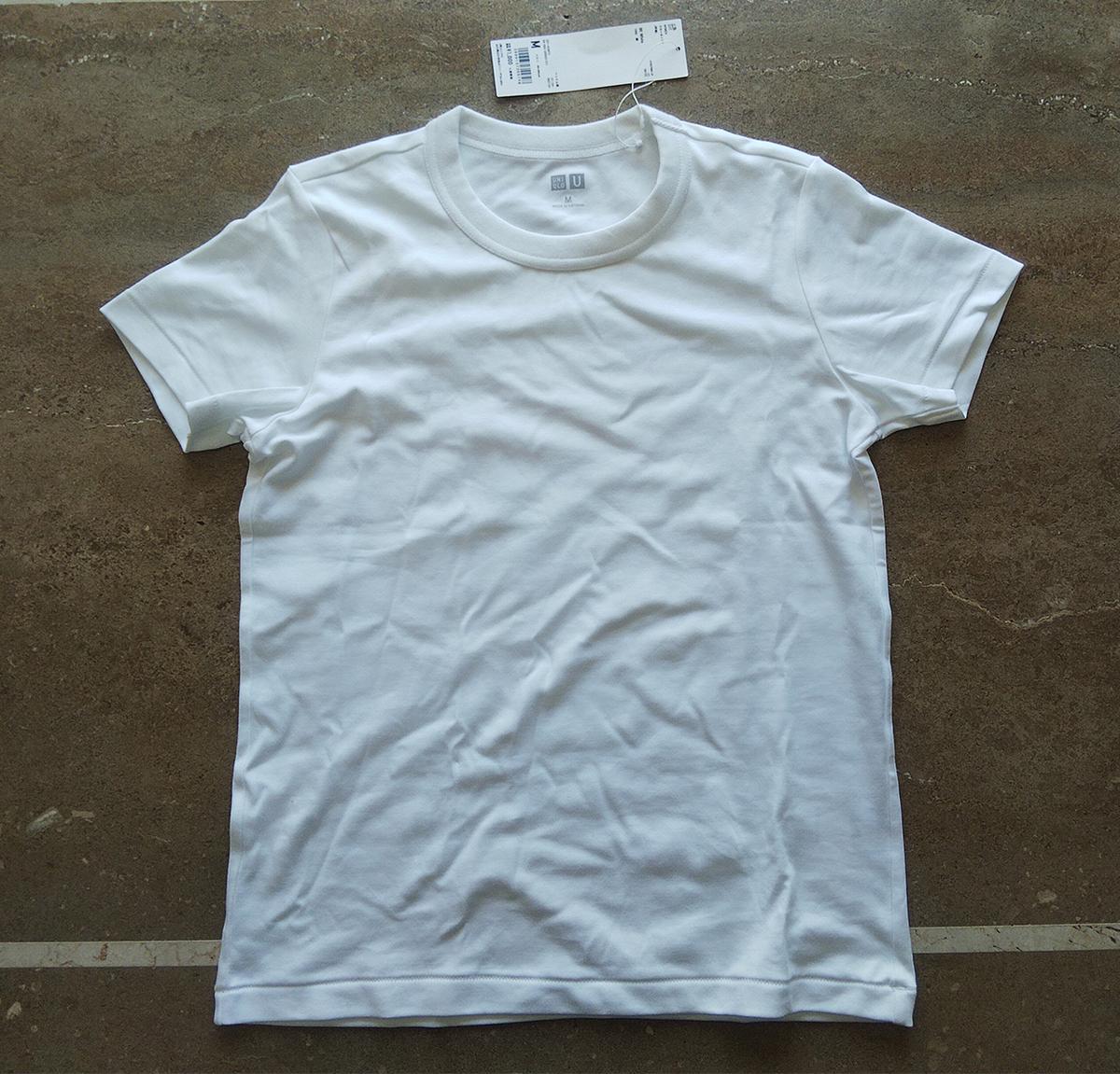 クルーネックT(半袖)のホワイト