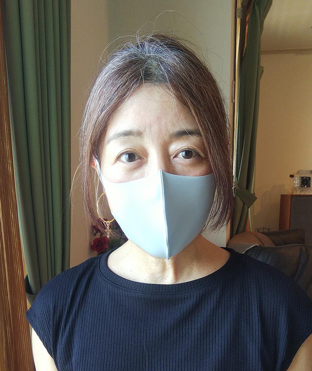アイスグレーのマスク
