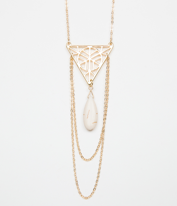 STONE PLATE NECKLACE