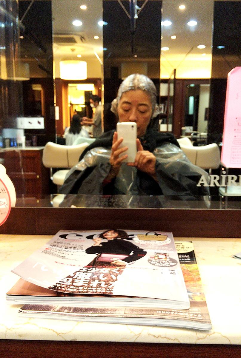 美容室でのカラーリング