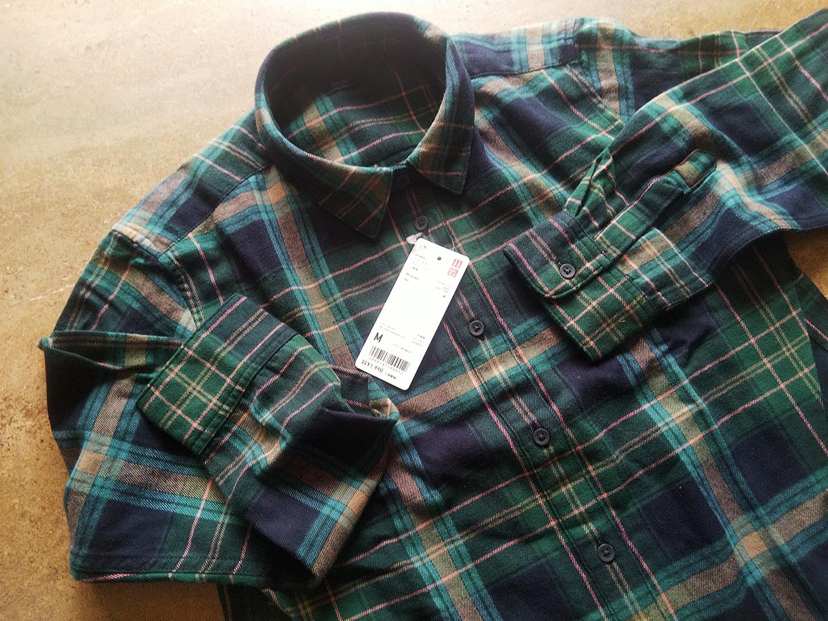 ブランネルチェックシャツ(55 Green)