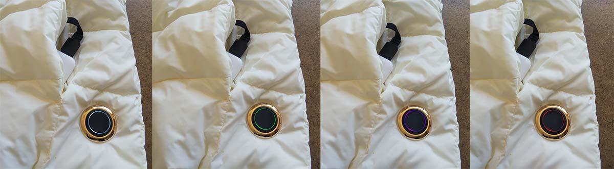 ホワイト(38℃)、グリーン(43℃)、パープル(48℃)、レッド(53℃)