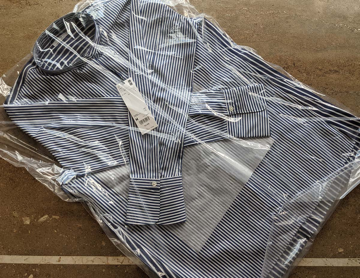 カバーリングされたシャツ