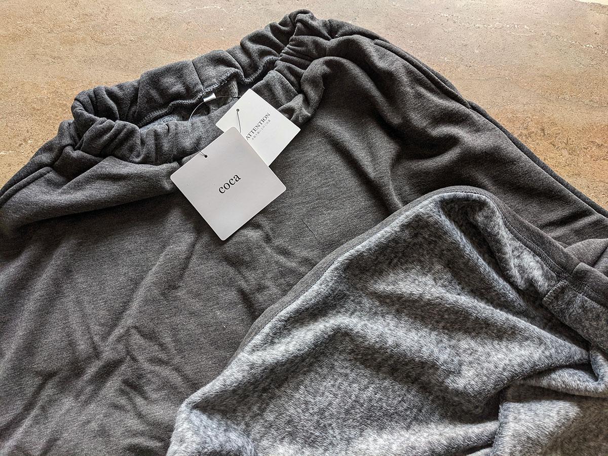毛布のような肌触り裏起毛フレアロングスカート