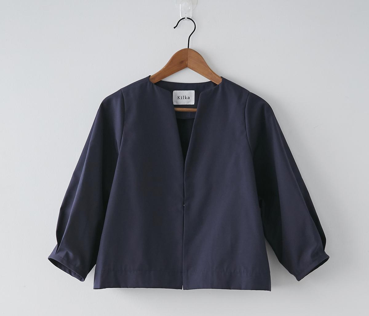 Kilka/洗えてシワになりにくいジャケット