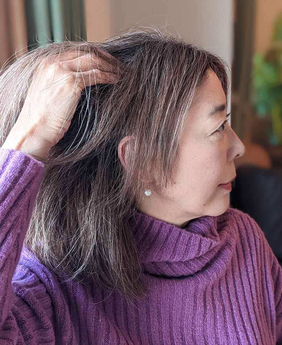 サボン モーヴで洗った髪