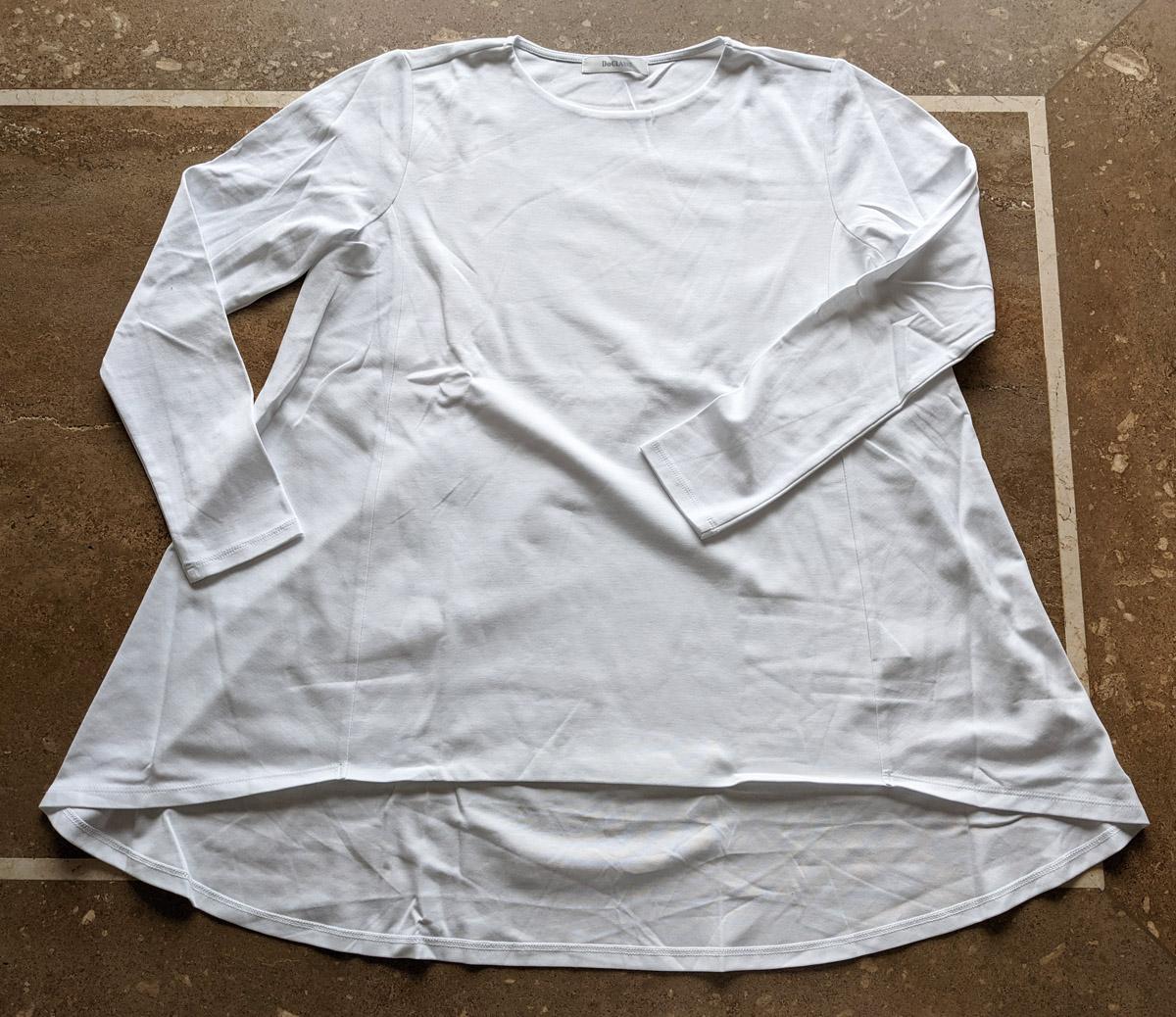 ドゥクラッセTシャツ・ペプラムボートネック