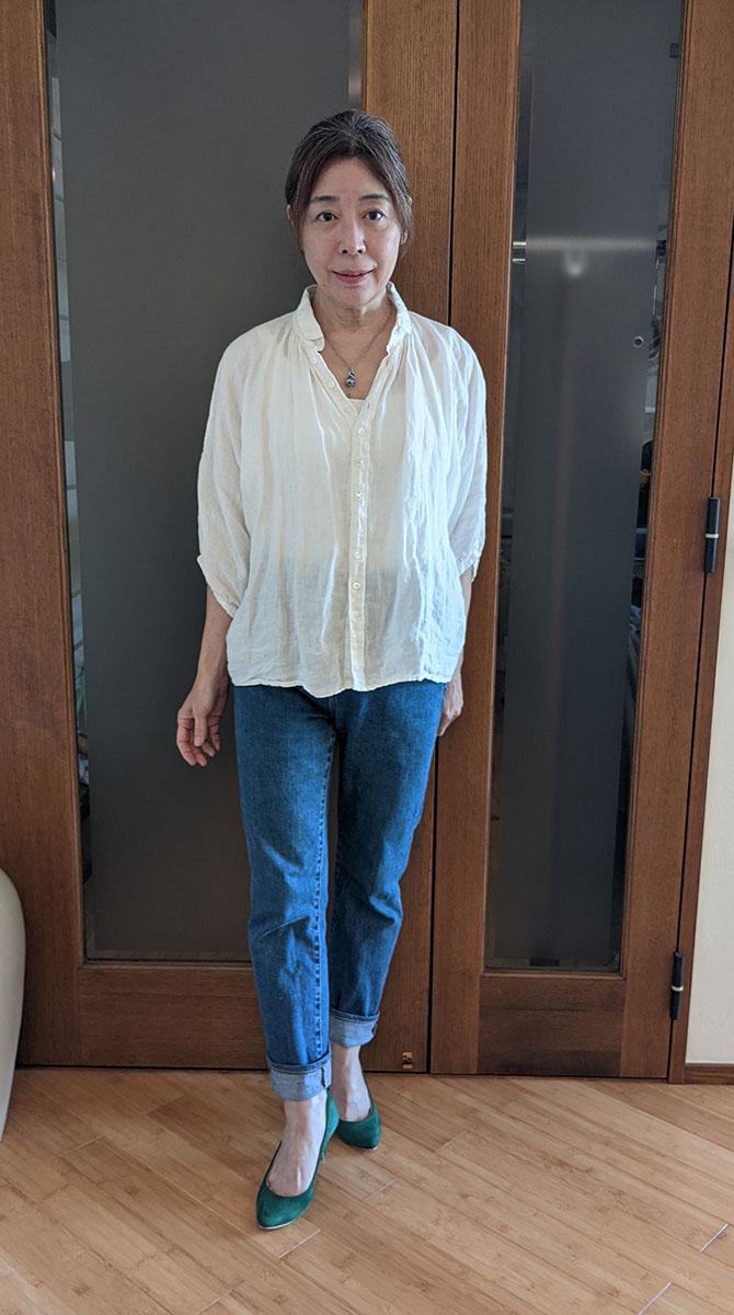 Brocante/リネンキャンバスグランシャツ