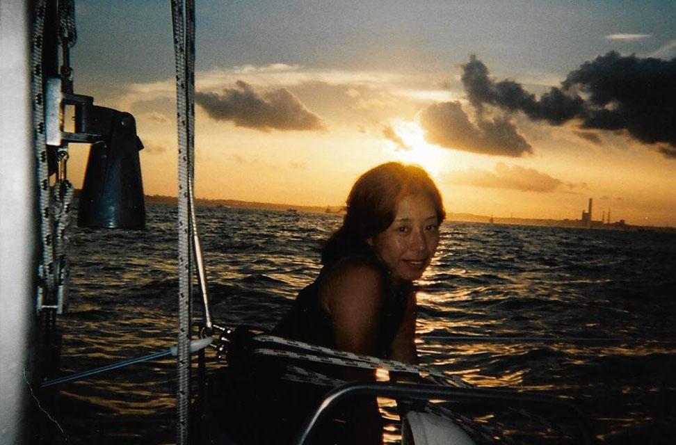 ヨットで日焼けしていた頃
