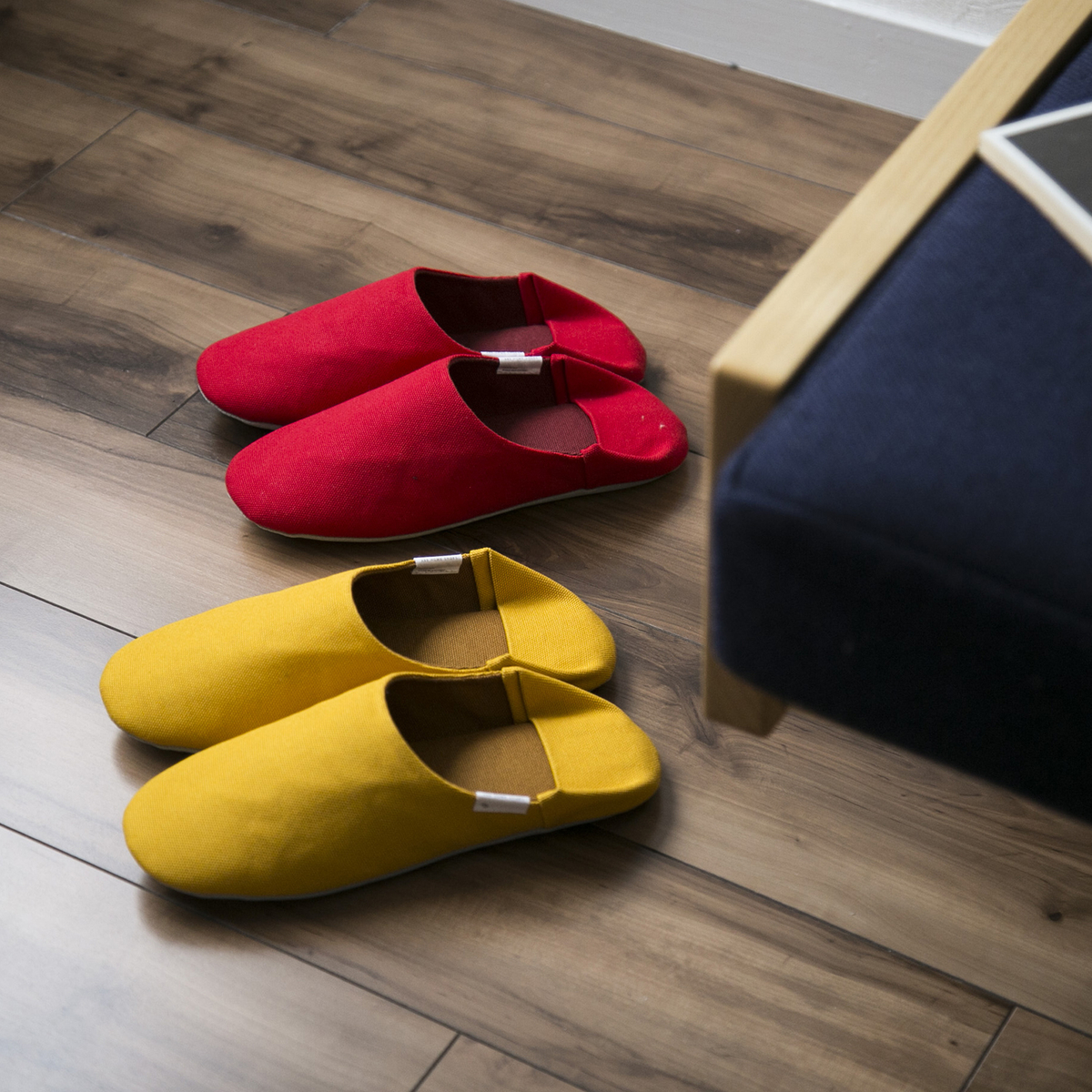 ABE HOME SHOES/帆布のバブーシュ
