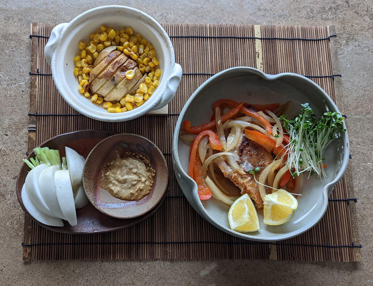 レモン香る赤魚の南蛮漬け、かぶの和風ディップサラダ、じゃがいものバター醤油焼き
