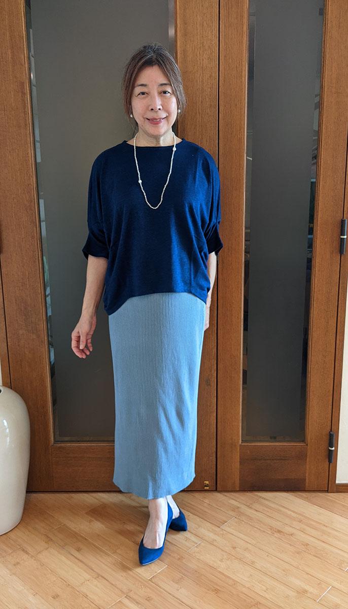 シャリ感リブニットスカート