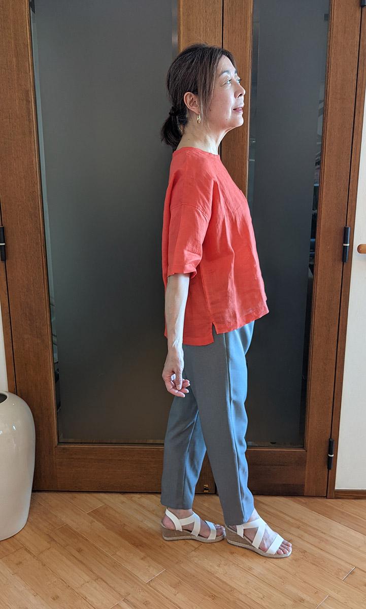 DAYS/ポケット付フレンチリネンプルオーバーとのコーデ