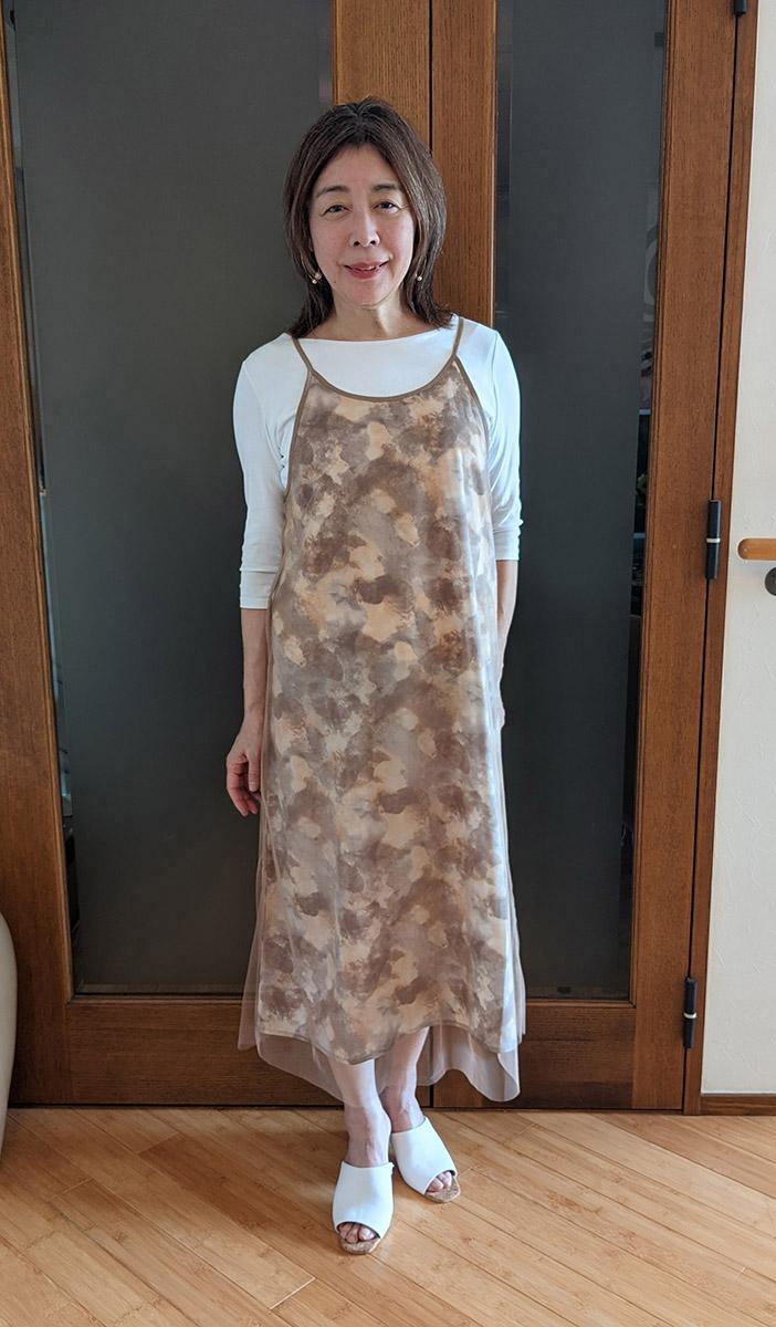 ドゥクラッセTシャツ・ボートネック7分袖/58cm丈とのコーデ