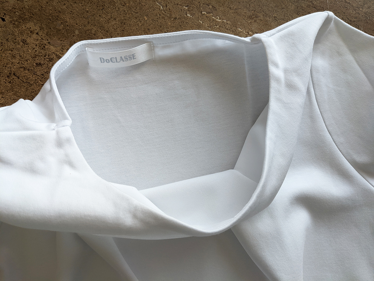 袋縫いの襟もと