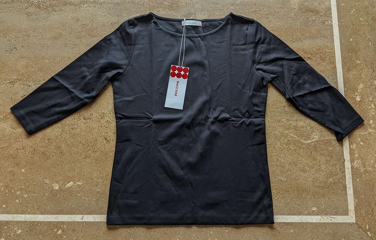 ドゥクラッセTシャツ・ボートネック7分袖/58cm丈