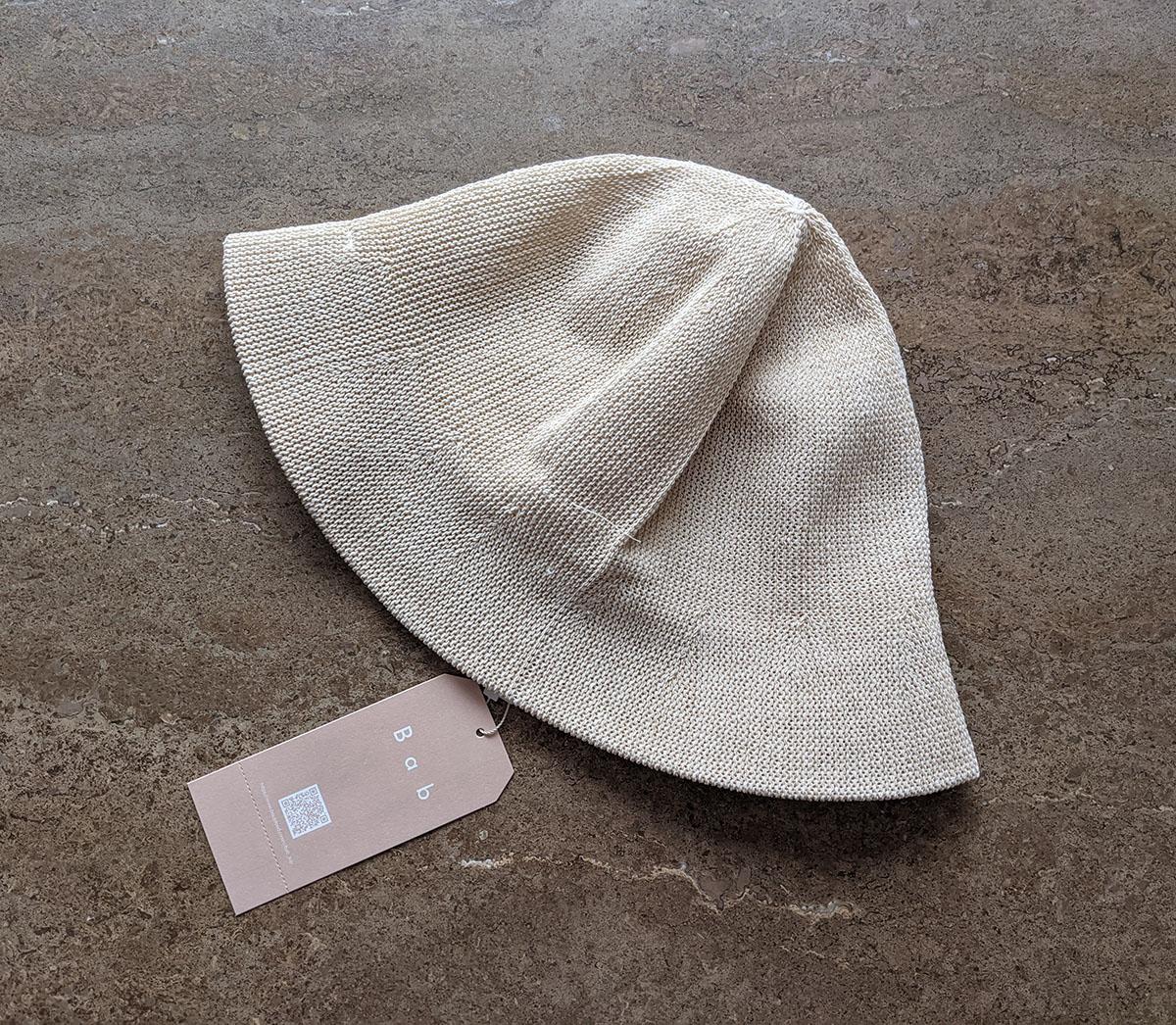届いた帽子