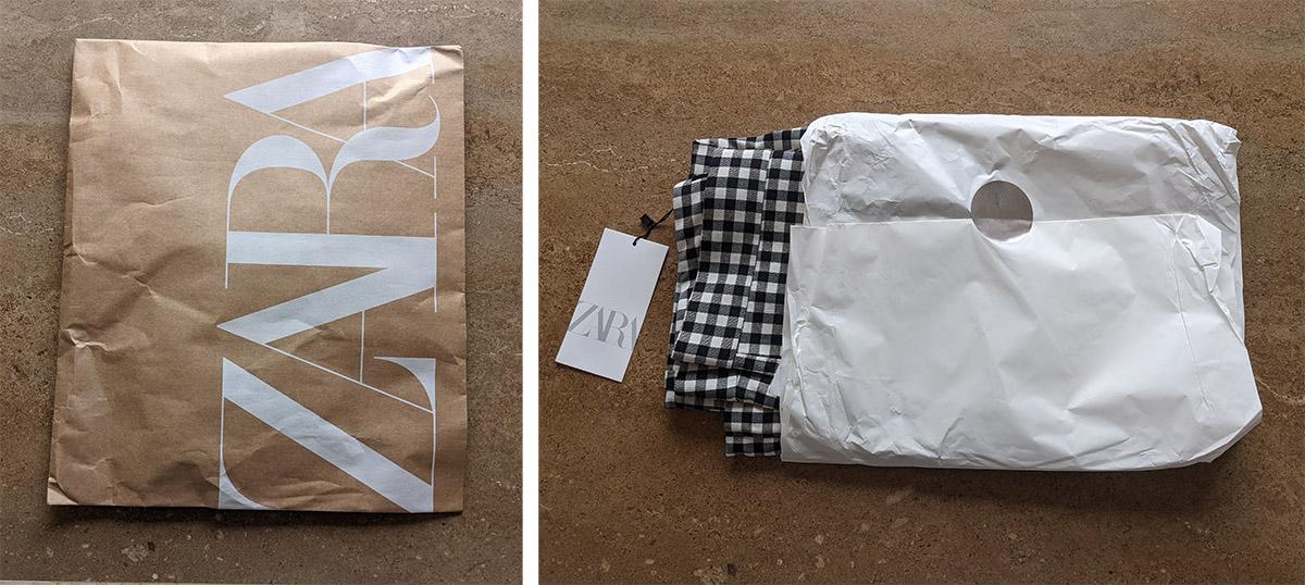 ZARAの包装