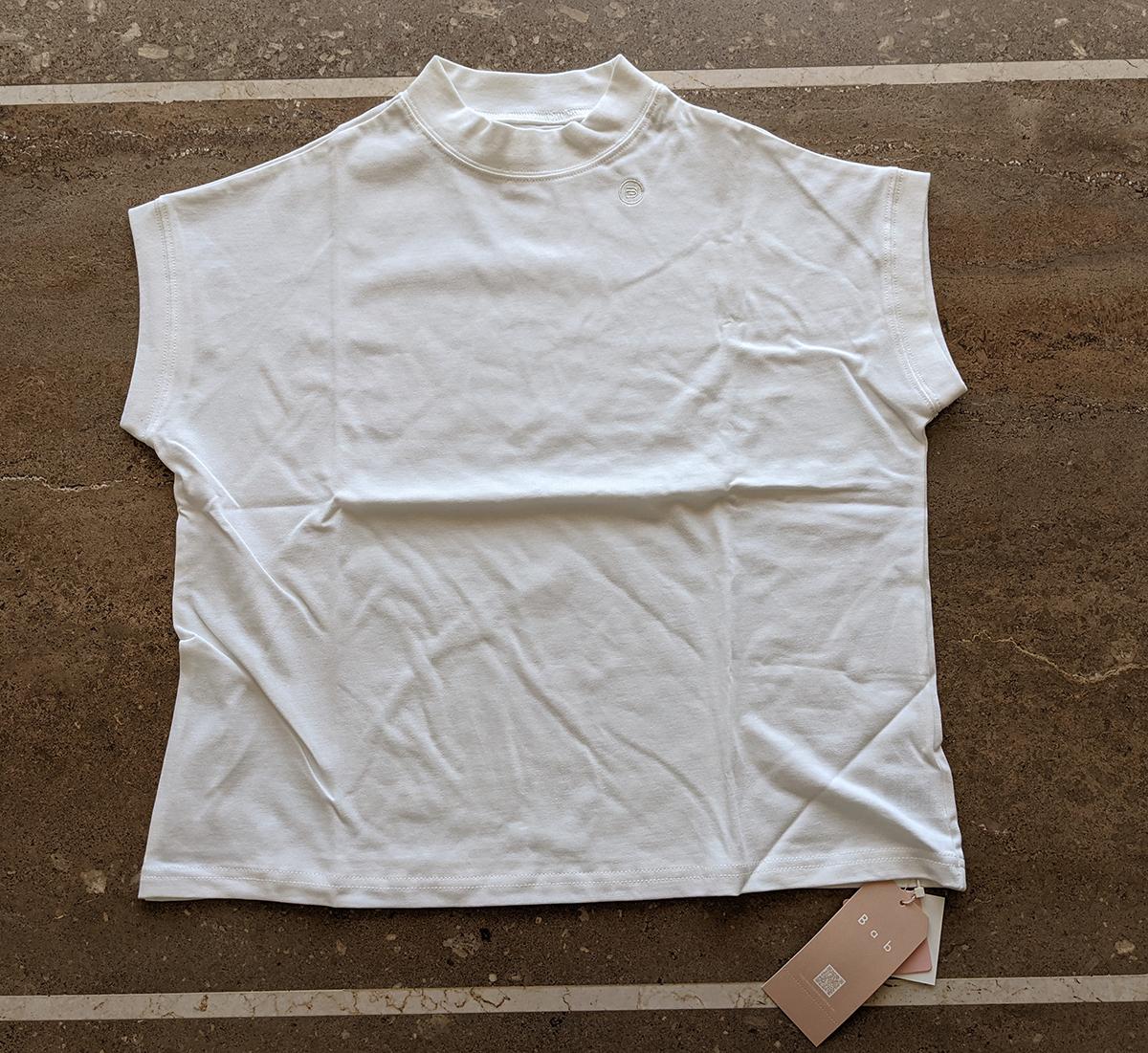 Bab USAコットンモックネックフレンチTシャツ