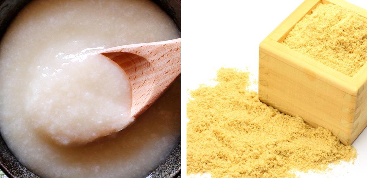 米麹エキスと米ぬか発酵エキス(イメージ)