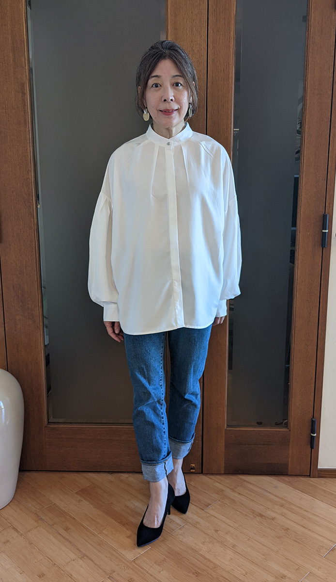タックスリーブシャツ単体でのコーデ