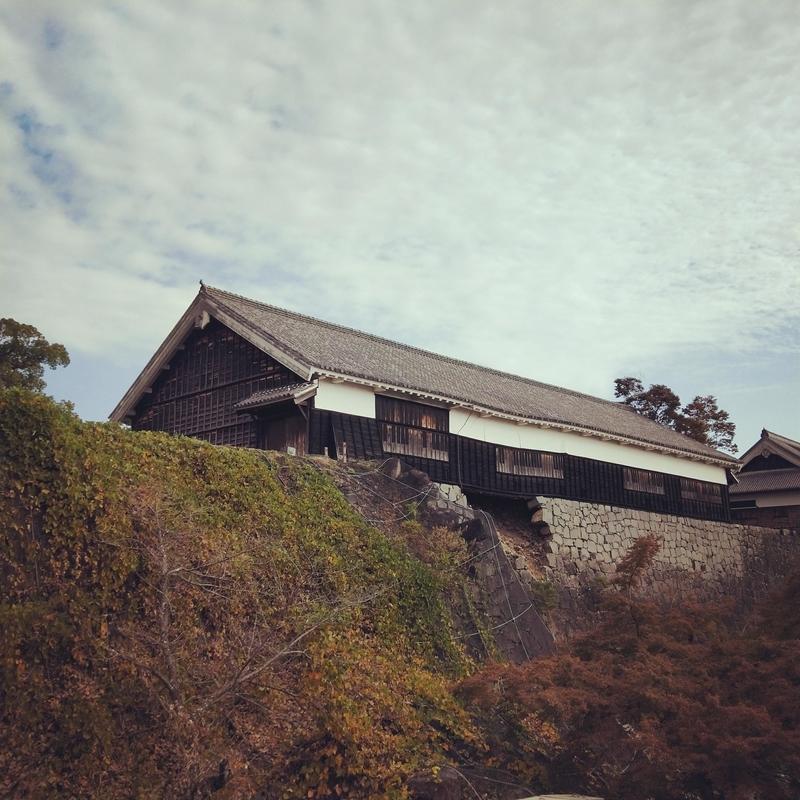 熊本城の崩壊する石垣