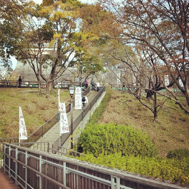 熊本地震後に一部損壊した熊本城の様子