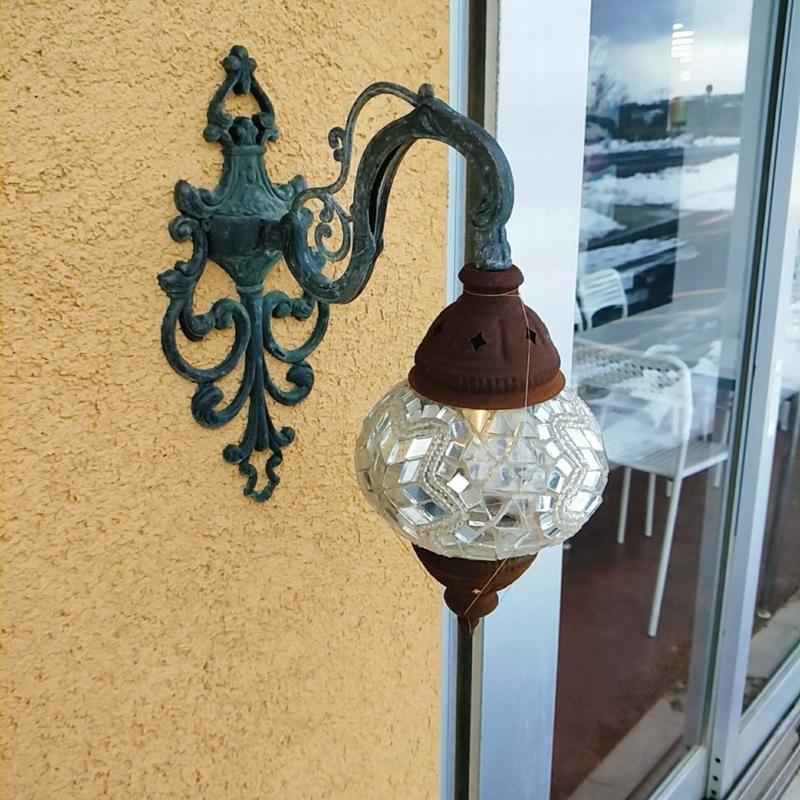 鳥取砂丘の近くにあるTotto PURINという砂プリンを販売しているお店の外灯