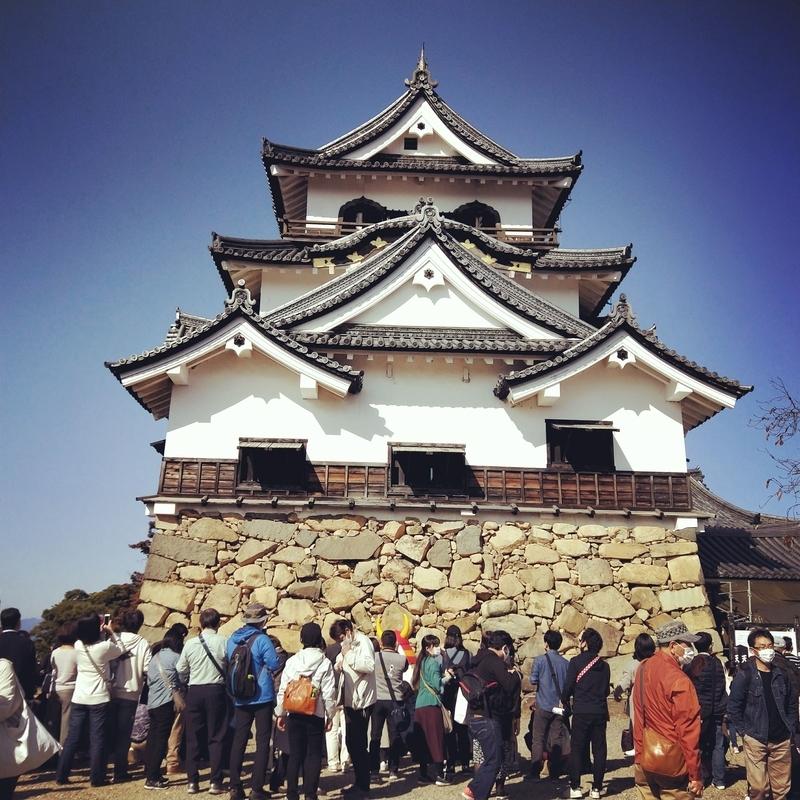 天気の良い日に撮影した彦根城の天守