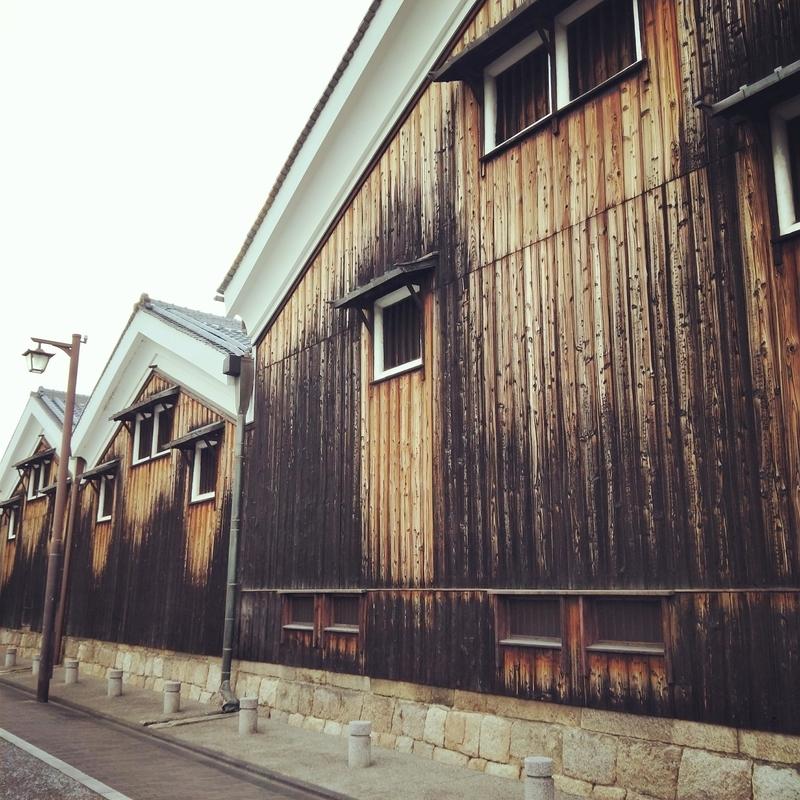 月桂冠の木造建築の建物