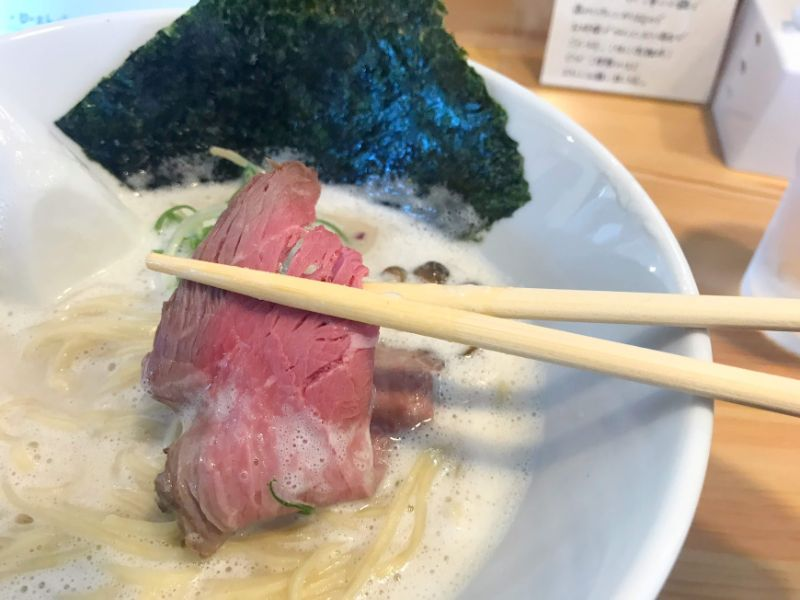 金沢流麺らーめん麺ローストビーフ