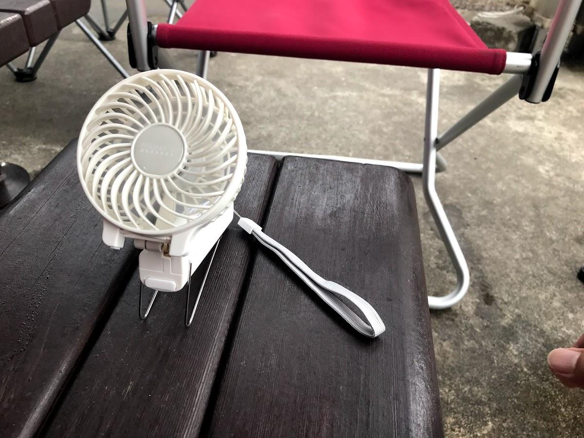 アウトドアやBBQで活躍する扇風機