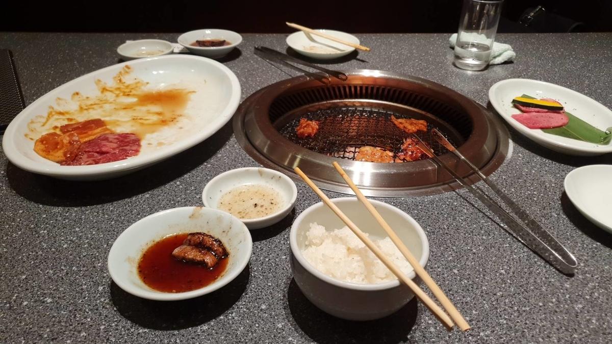 Oさんとイベント後に焼き肉を食べに行った