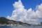 港の白い雲