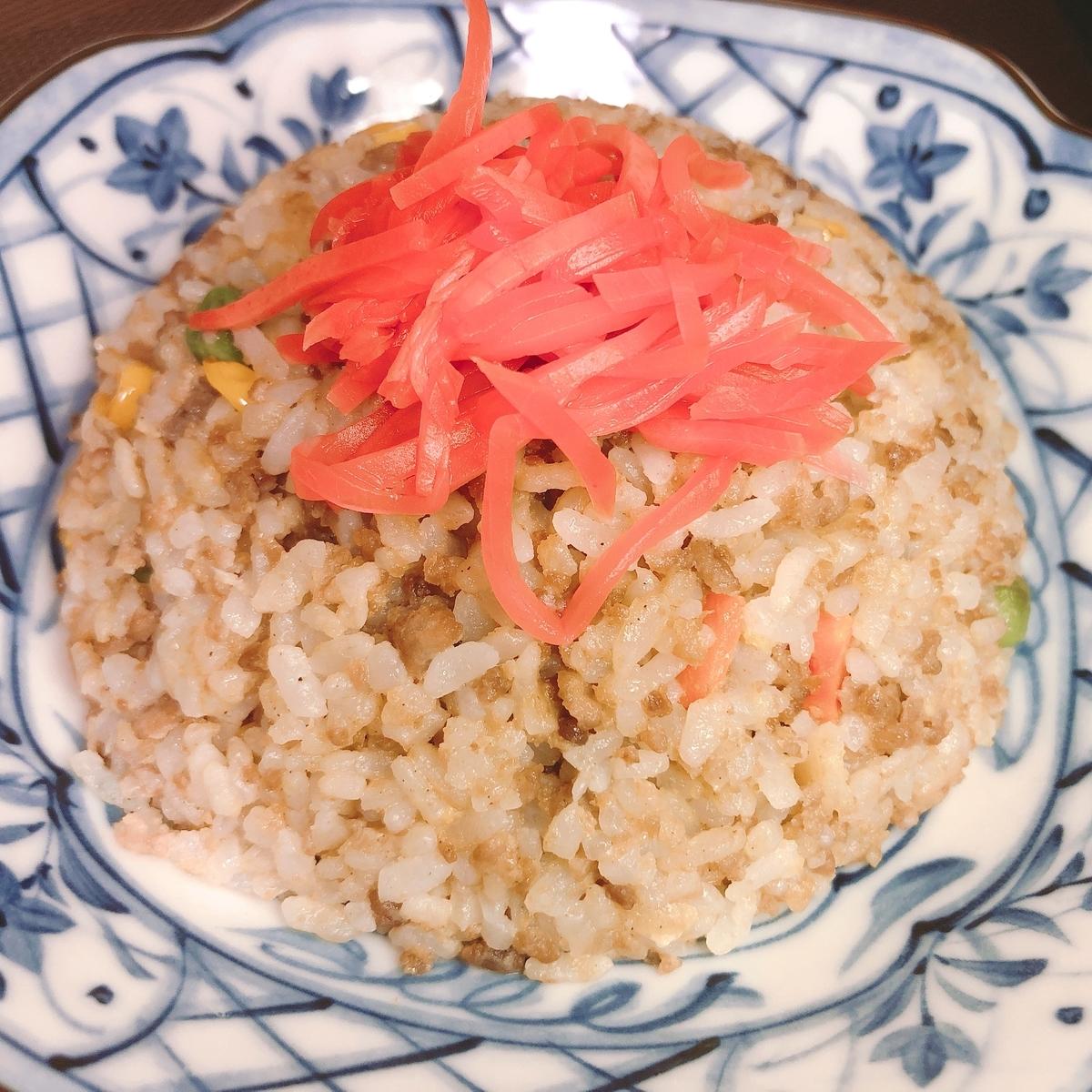 肉ソボロ炒飯