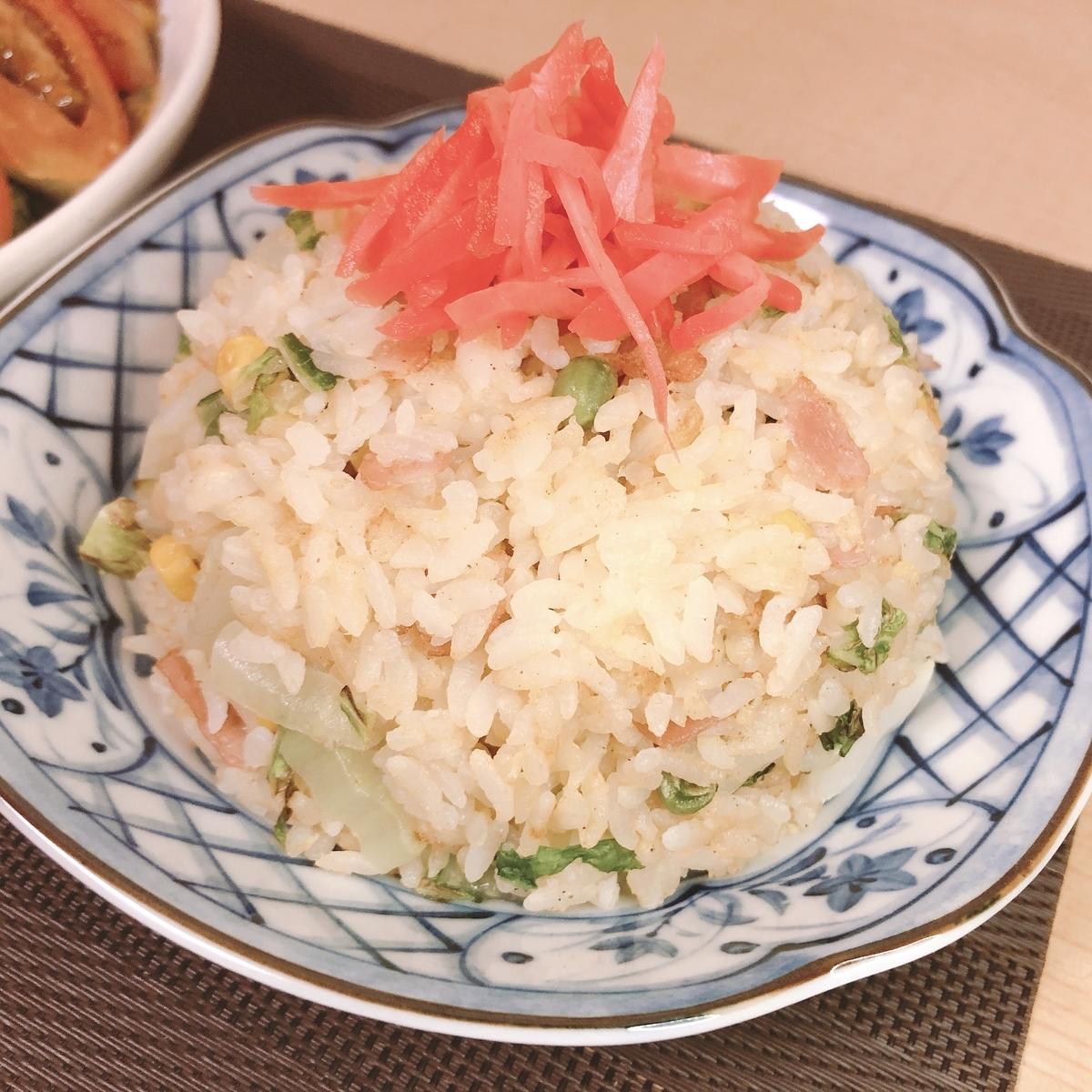 白菜ベーコン炒飯