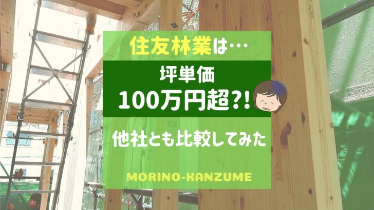 住友林業の坪単価は100万円超
