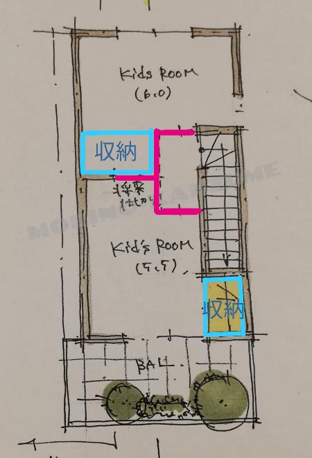 3階は将来的に間仕切りで2部屋に