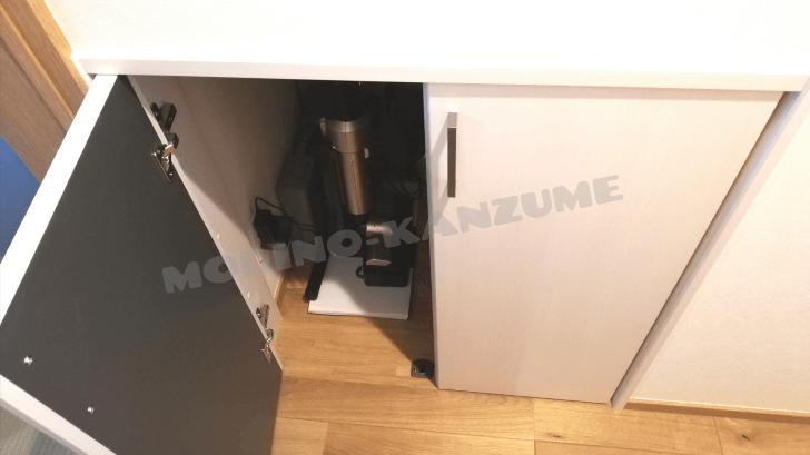 アイリスオーヤマ極細スティッククリーナーは階段下収納に収まる!