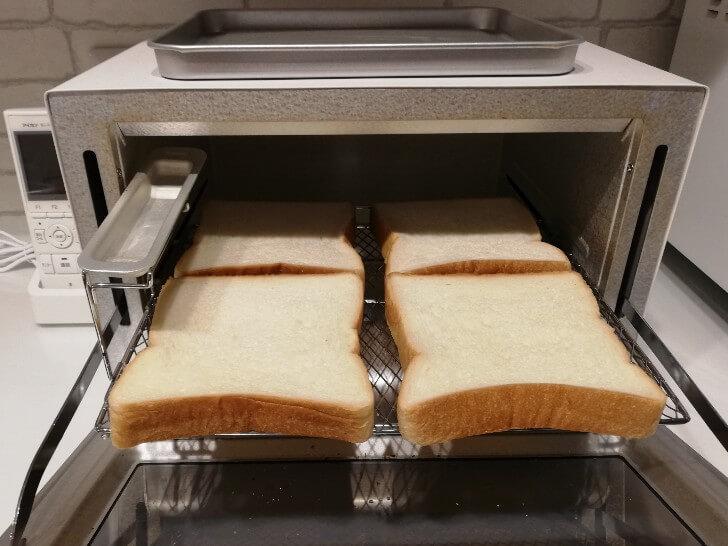 アイリスオーヤマのオーブントースターは食パン4枚入る